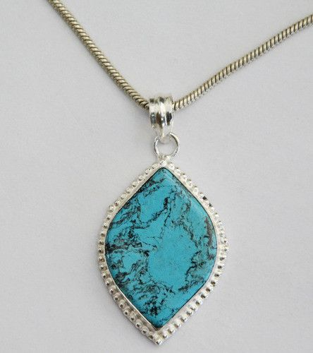 Stunning Necklace with Genuine Turquoise