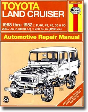 Haynes Repair Manual Perfect For The Shade Tree Mechanic Toyota Land Cruiser Land Cruiser Automotive Repair