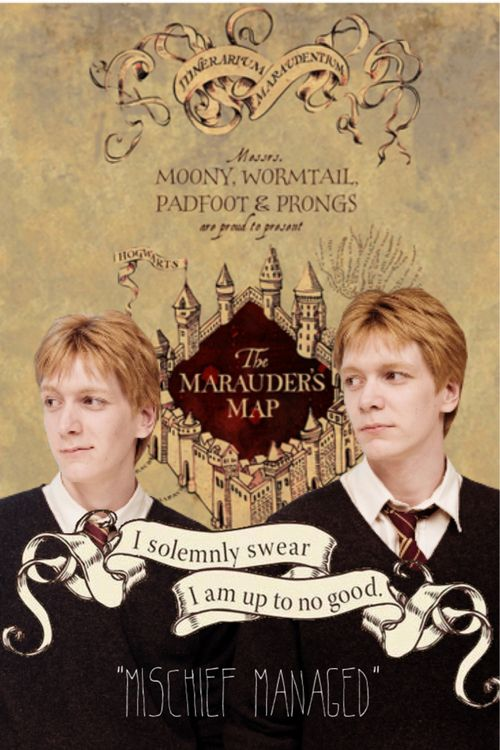 """Fred and George """"mischief managed"""""""