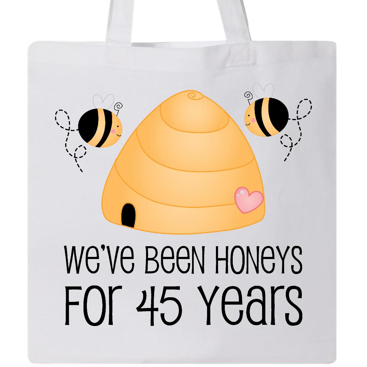 45th Year Wedding Anniversary Honeybees Tote Bag White 11