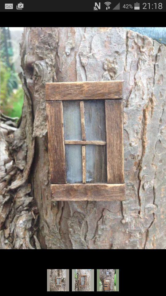 pretty handmade fairy window fairy garden tree decor home fairy rh pinterest com