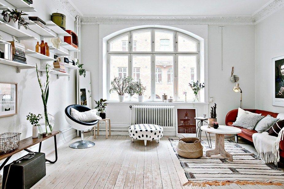 Interijer od 47 m2 s eklektičnim dekorom