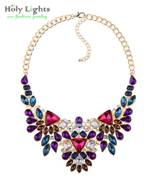 Sparkly Beaded Peacock Necklace w// Magnetic Clasp closure FREE SHIPPING