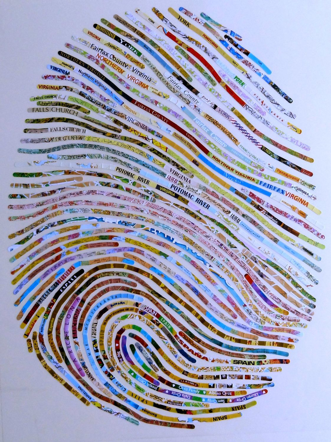 Giant Fingerprint art that is customized to the person ...