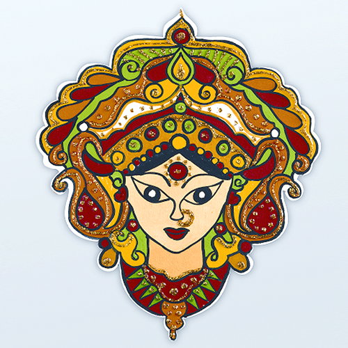 This Beautiful Face Of Goddess Durga Is Sure To Bring