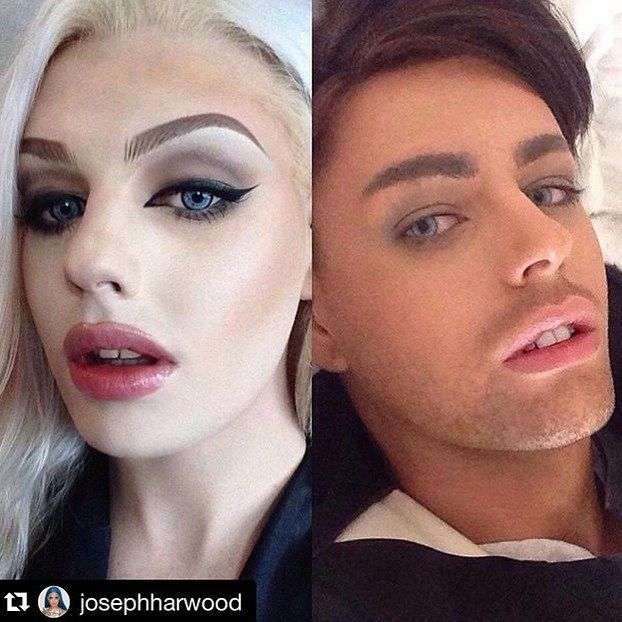 make up semale homens