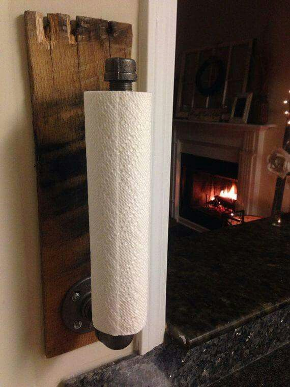 Paper Towel Holder Wall Mount Home Diy Rustic House Rustic Kitchen