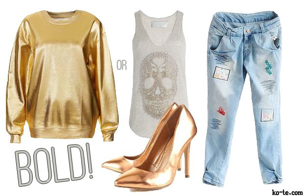 How to wear gold shoes