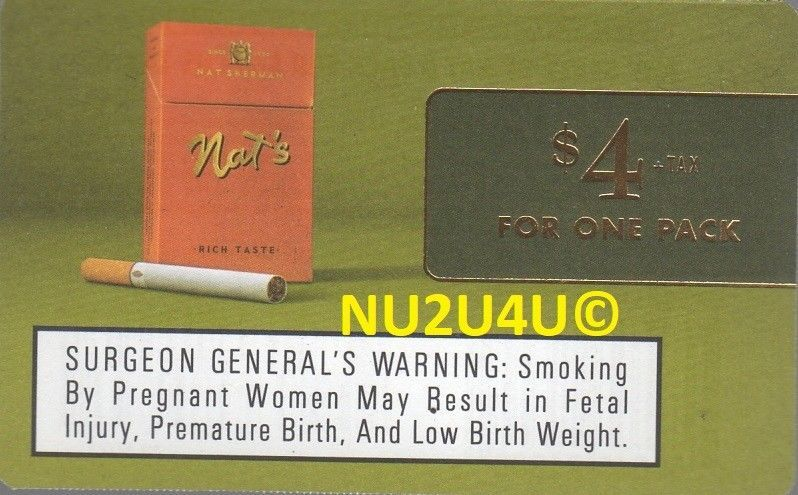 Nat's Cigarette Coupon One Pack Any Style for $4 + Tax
