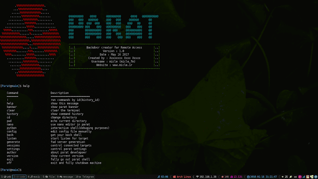 Parat - Python Based Remote Administration Tool (RAT) in 2019