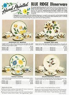 1950s Vintage Ad Page for Southern Potteries Blue Ridge Dinnerware~4 Patterns  sc 1 st  Pinterest & 1950s Vintage Ad Page for Southern Potteries Blue Ridge Dinnerware~4 ...