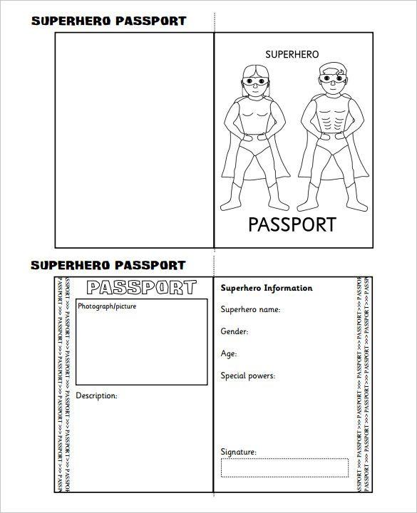 Passport Template \u2013 19+ Free Word, PDF, PSD, Illustrator Format