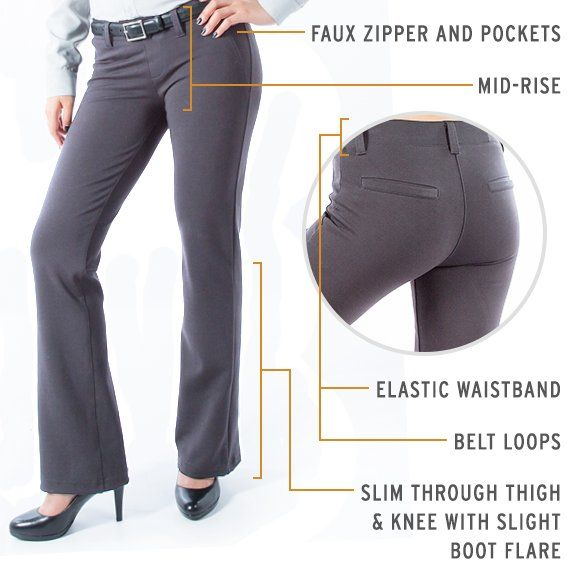 5f14df1f1b Gray Dress Pant Yoga Pants (Boot-Cut) | Charcoal Athleisure Boot-Cut ...