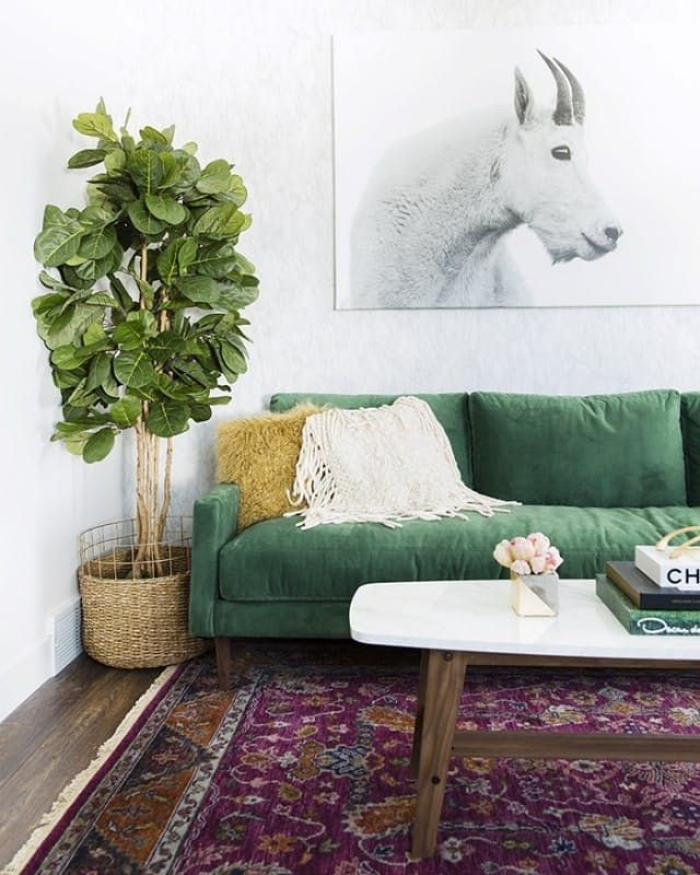 The Couch Trend for 2017: Stylish Emerald Green Sofas | Boho Home ...