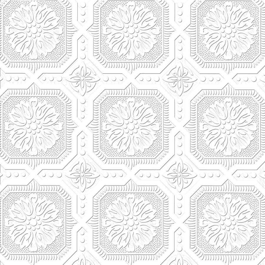 allen + roth Paintable Ceiling Tiles Wallpaper Lowe's