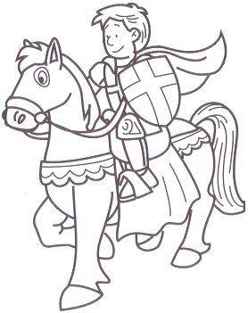 Kleurplaat Ridders Ridders Pinterest Ridders Prinses Kasteel