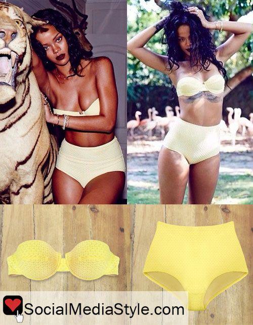 c8d761bee2e8a Rihanna s Yellow Bikini
