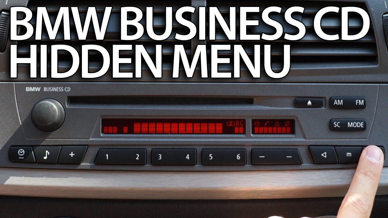 How to enter hidden menu #BMW Radio Business CD (diagnostic