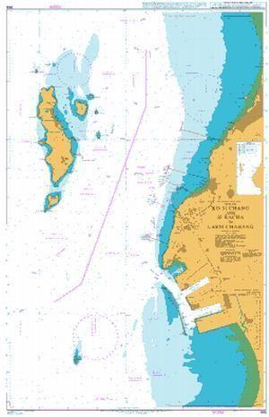 British Admiralty Nautical Chart 986 Gulf of Thailand Thailand
