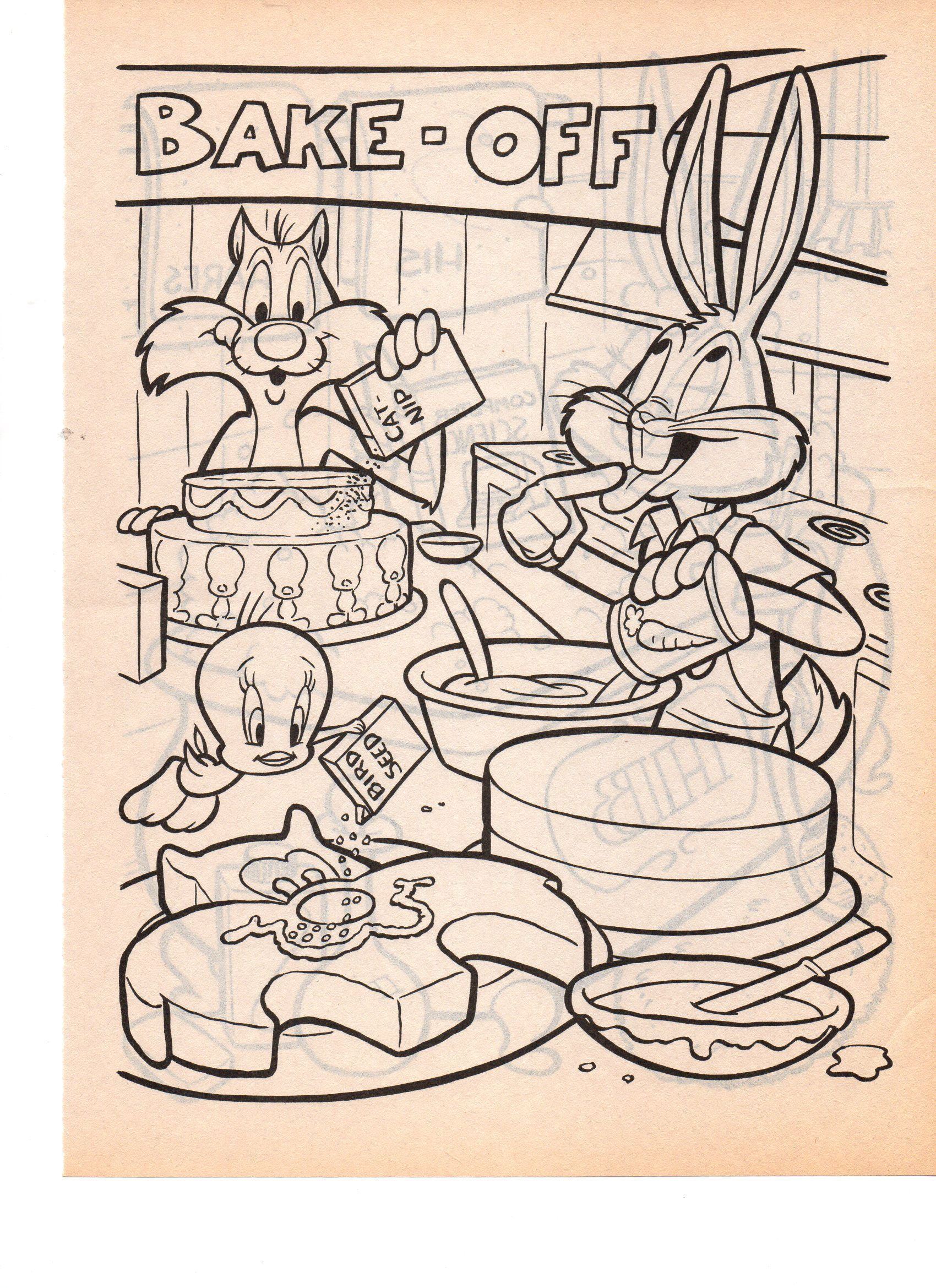 LOONEY TUNES BUGS BUNNY TWEETY BIRD N SYLVESTER | COLORING PAGES ...