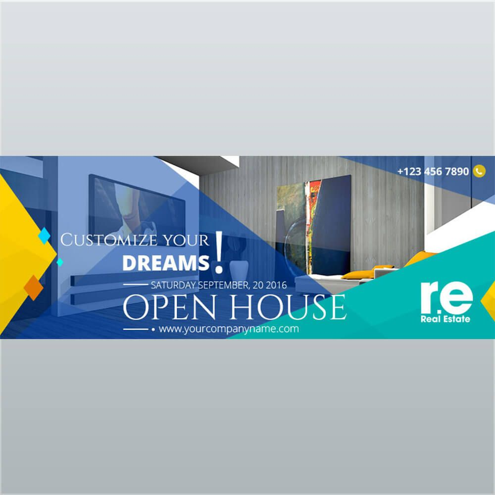 Vibrant Indigo Real Estate Banner Bd212 Real Estate Banner Real Estate Banner