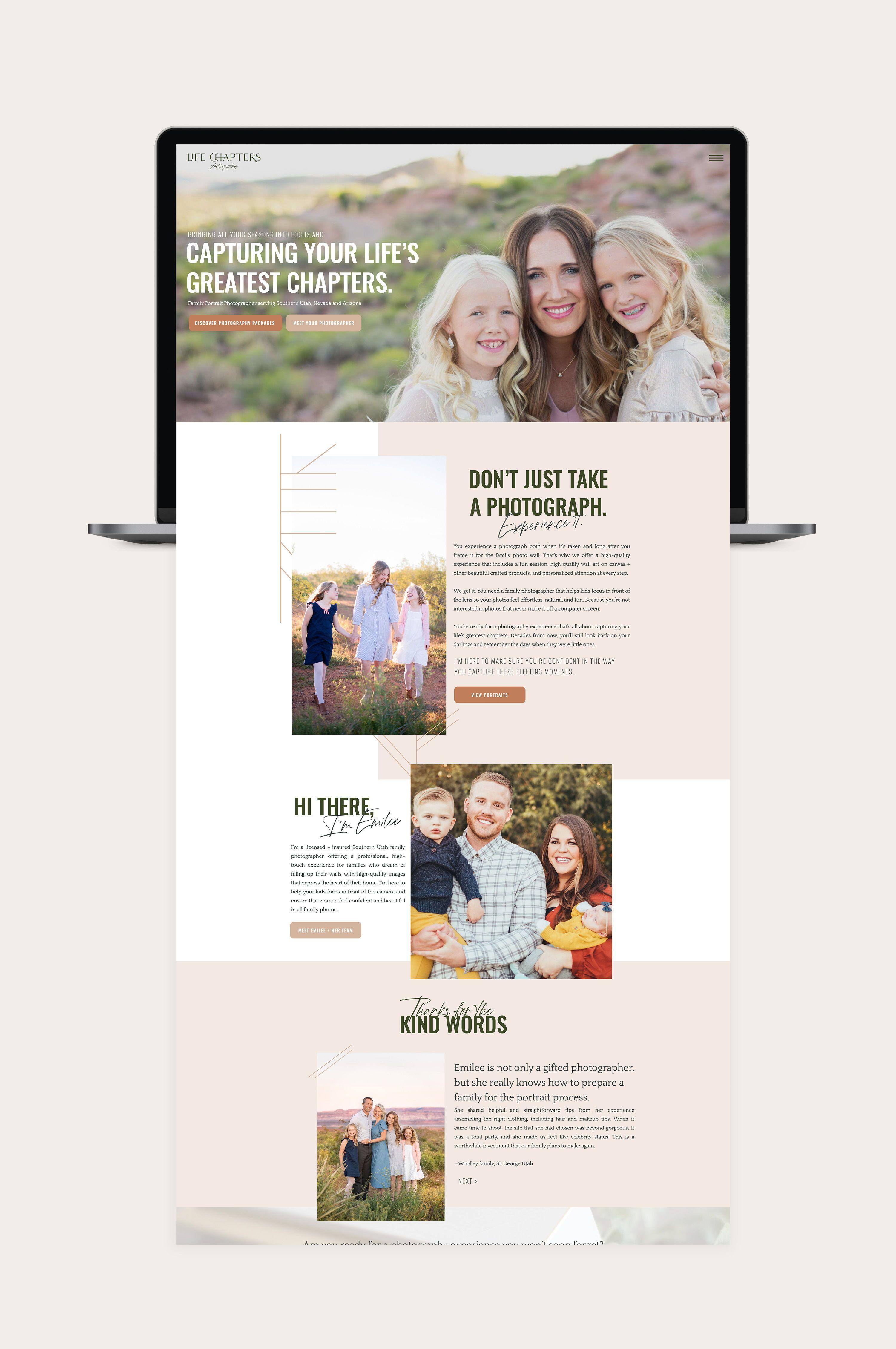 Custom Website Design For Life Chapters Photography By Amanda Scott Creative Start Your Custom Exp Custom Website Design Website Design Website Design Layout