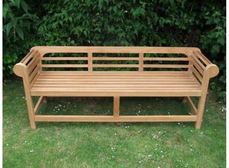 Teak Lutyens Garden Bench Low Back For Living Room