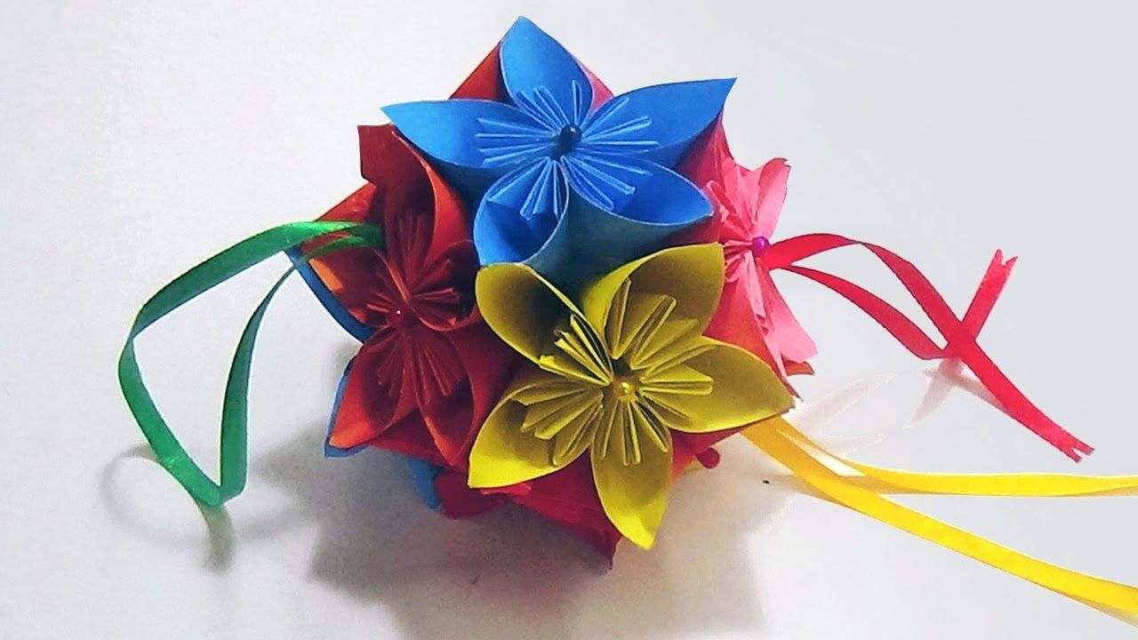 27 Amazing Photo Of Origami Kusudama Flower Tutorial Easy Diagrams How To Make An