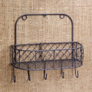 Chicken Wire Wall Basket With Hooks Set Of 2 Wire Wall Basket Baskets On Wall Wire Basket Shelves