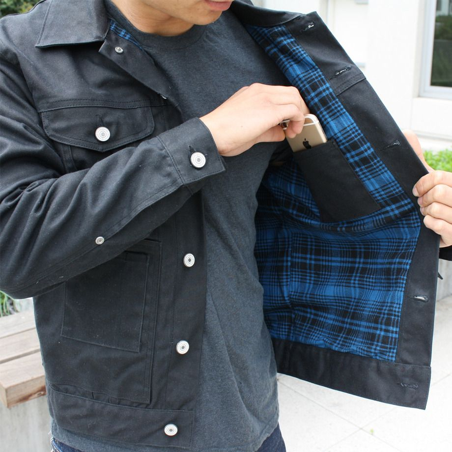 How about this crowdsourced black flannel lined trucker jacket ...