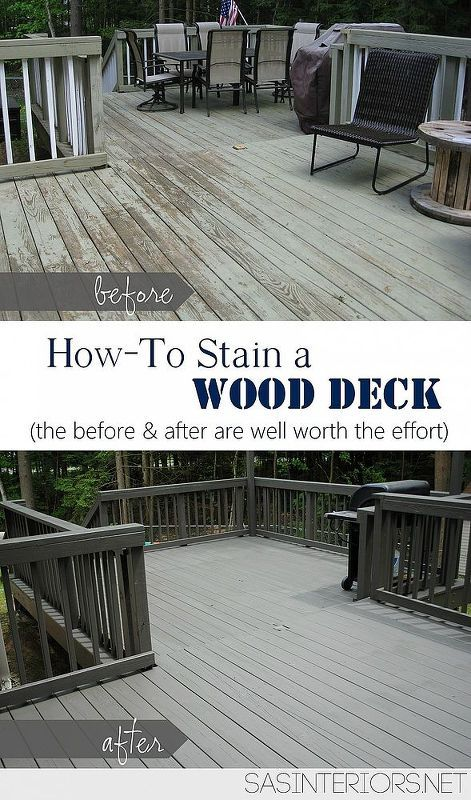 How To Stain A Deck Deck Makeover Wood Deck Staining Deck