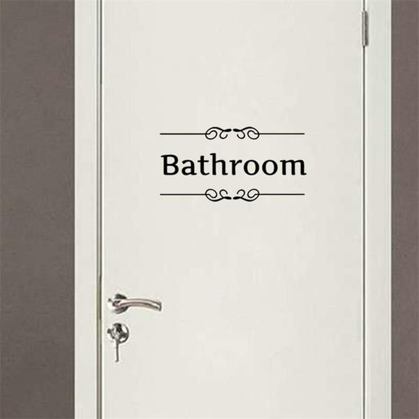 Charmant Creative DIY Vintage Top Design Toilet Door Sign Wall Decal Sticker 1004