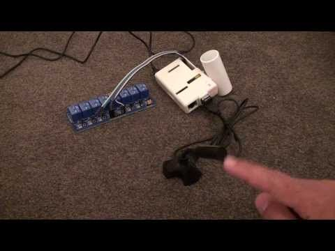 Raspberry Pi: Voice activated light control with Relay - Home Automation made easy - YouTube