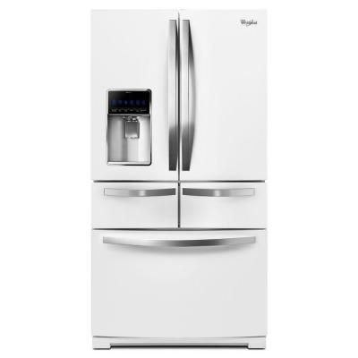 Whirlpool 26 cu. ft. Double Drawer French Door Refrigerator in White - WRV996FDEH - The Home Depot