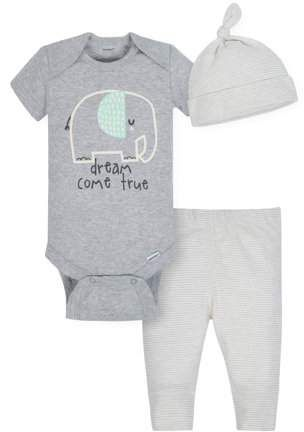 4c7a1e3be9a7 Gerber Organic Cotton Take Me Home Outfit Set, 3pc (Baby Boy or Baby Girl  Unisex)