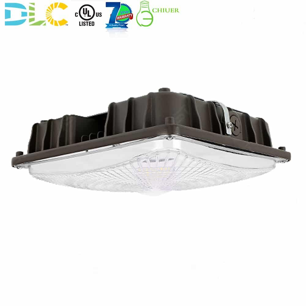 27w 40w 60w Led Canopy Light Fixture For Gas Station Petrol Station Parking Garages Dark Bronze 100 277v 5000k Daylight White Ul Dlc Listed Canopy Lights Light Fixtures Canopy