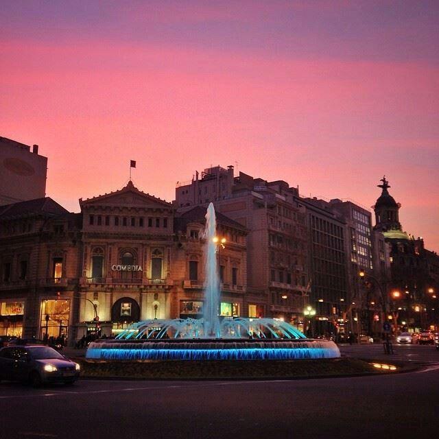 Cruïlla de Passeig de Gràcia i Gran Via. Barcelona (Catalunya - Catalonia)