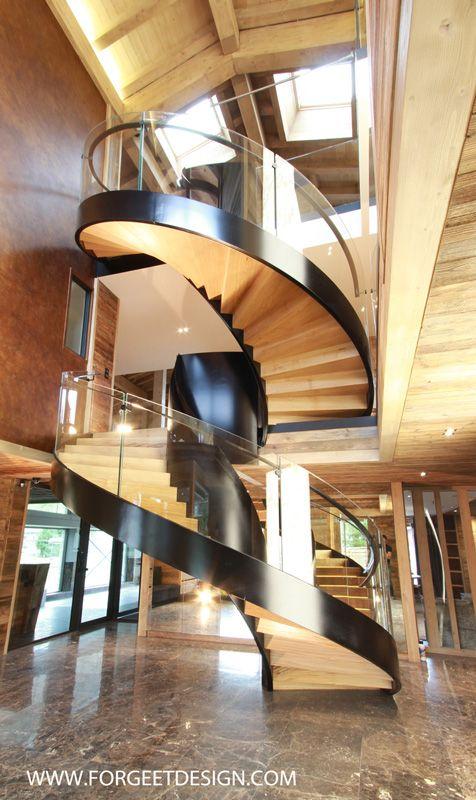 photos d 39 escalier fer forg escalier de luxe portail de luxe escalier acier m tal fer. Black Bedroom Furniture Sets. Home Design Ideas