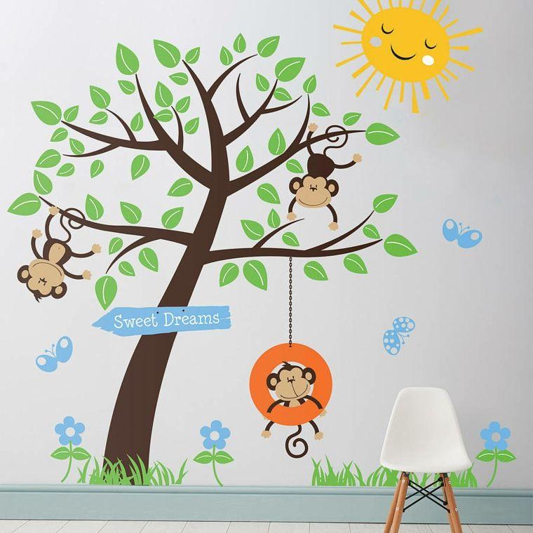 Décoration Pour Enfant Avec Stickers Muraux De Jungle