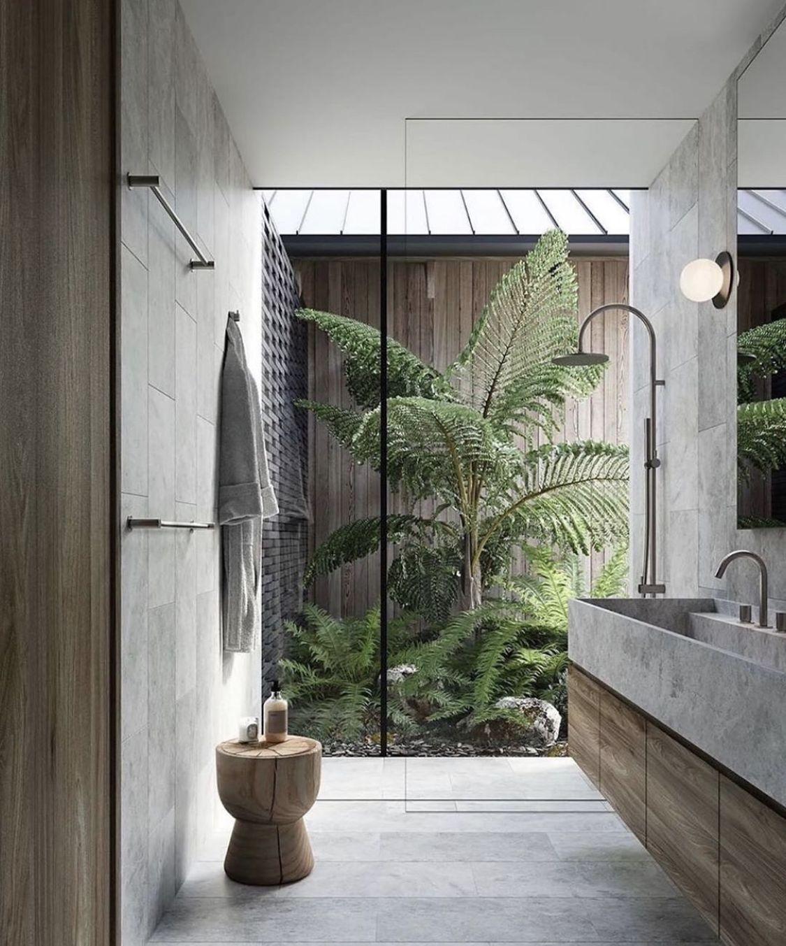 Pin By Hana Abulafi On Bathroom Ideas In 2020 Indoor Outdoor Bathroom Outdoor Bathrooms Architect Design