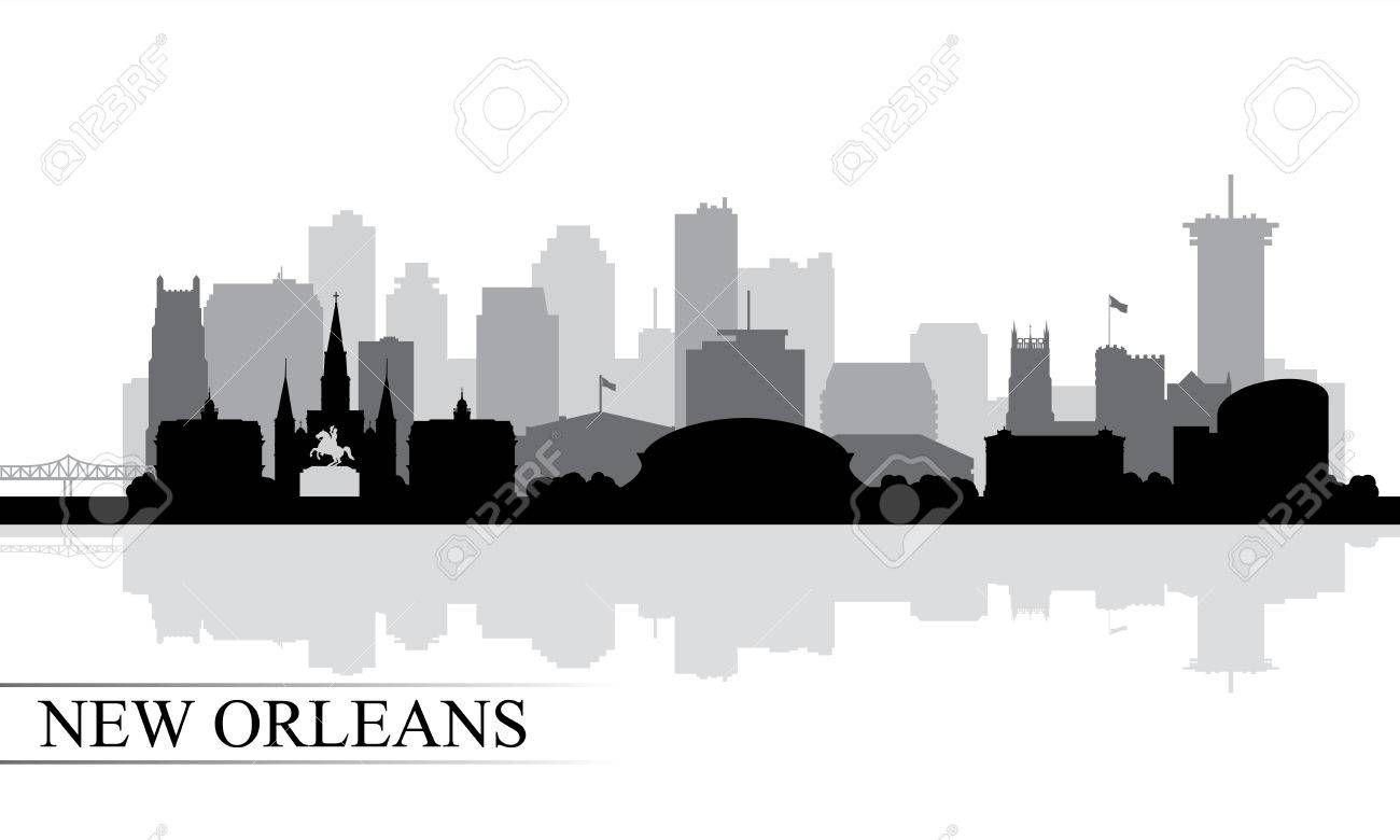 New Orleans City Skyline Silhouette Background Vector Illustration City Skyline Silhouette Skyline Silhouette New Orleans City