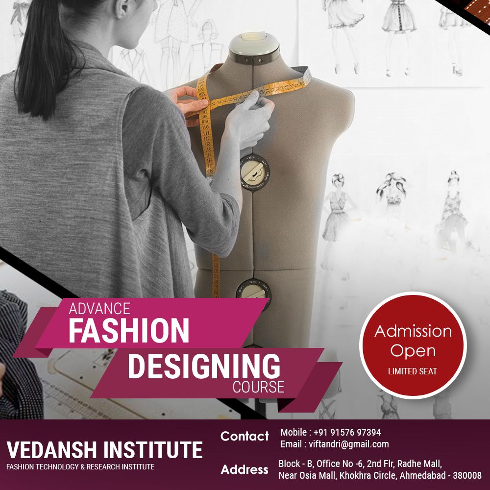 Vedansh Institute Of Fashion Technology Research Institute Viftandri Admission Open For Fashion Designing Course Few Seats Lefts So T Fashion Designing Course Research Institute Design