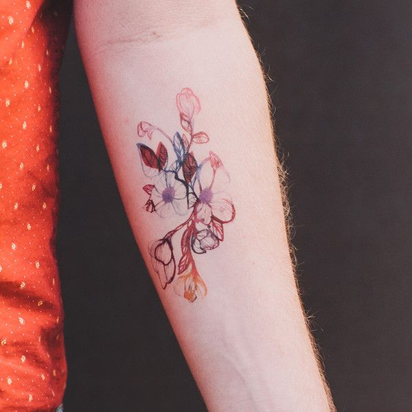 Small+watercolor+flower+tattoos