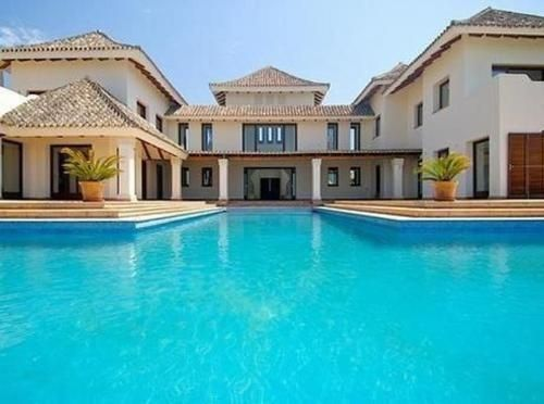 huge pool Dream house, Dream mansion, House