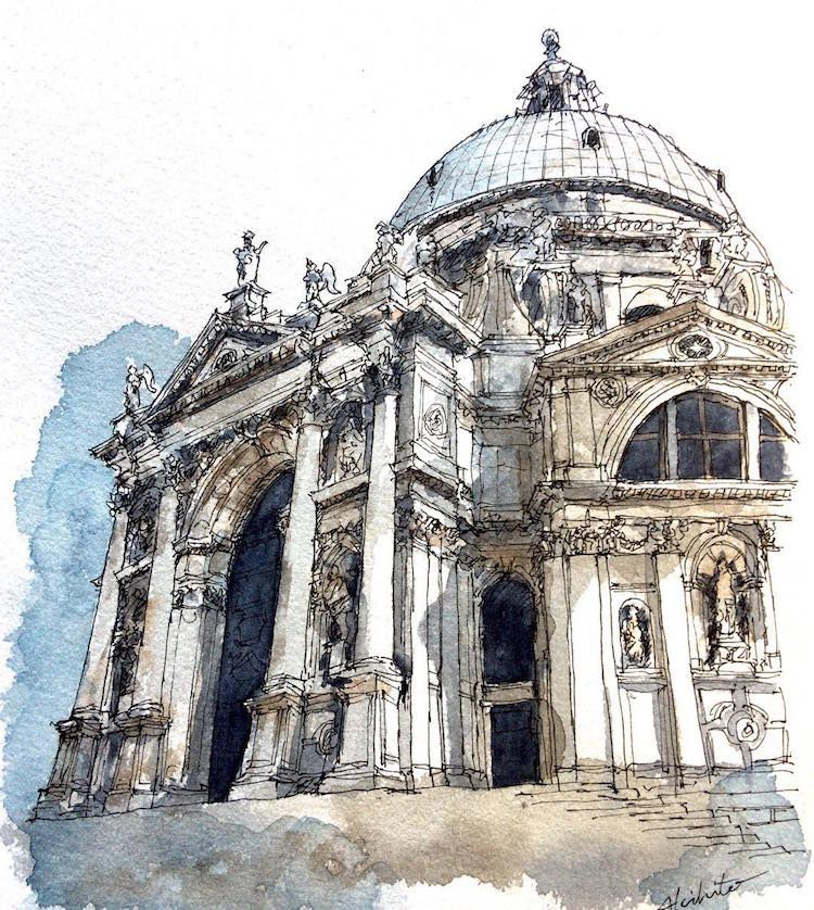 Artist With Extreme Wanderlust Travels By Painting Architecture