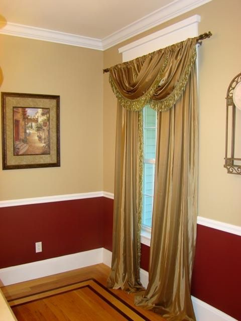 Dark Color Painted Below The Chair Rail, Light Color Above Part 59