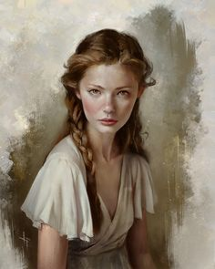 Female Portrait Illustrations By Justine Florentino #characterart