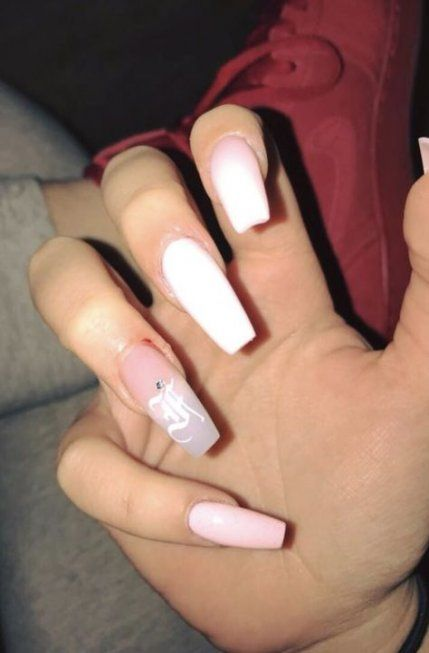60 Trendy Nails Ideas Acrylic Coffin With Initials Long Acrylic Nails Coffin Nails Designs Cute Acrylic Nails