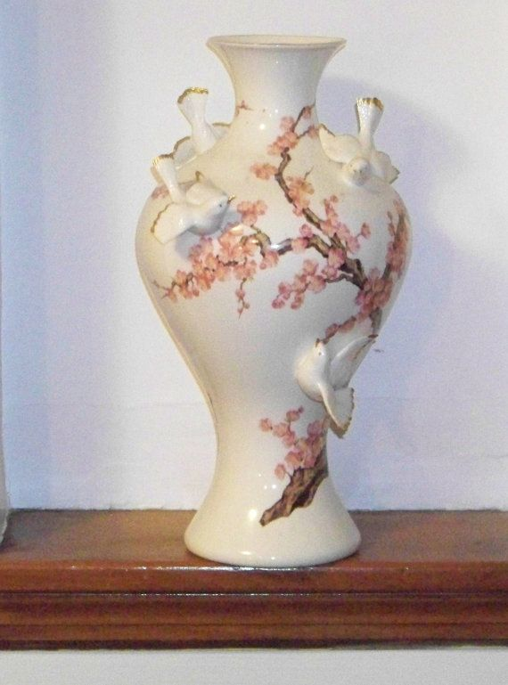Vintage Franklin Mint Porcelain Vase of the by PaintedOnPlaques, $145.00