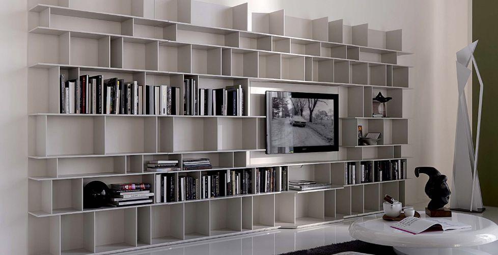 Librerie design parete cerca con google living pinterest